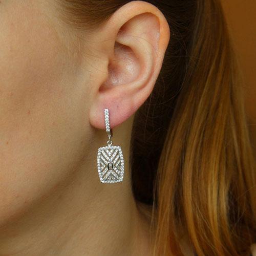 boucle oreille femme argent zirconium 9300266 pic5