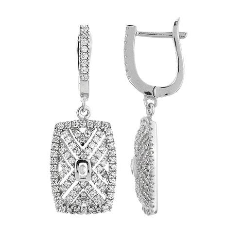boucle oreille femme argent zirconium 9300266