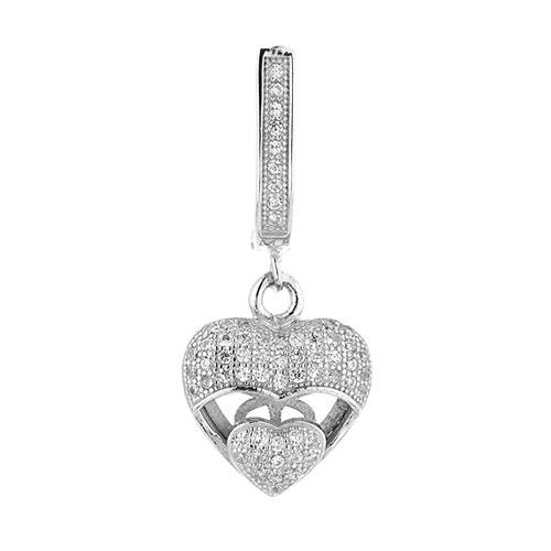 boucle oreille femme argent zirconium 9300267 pic2