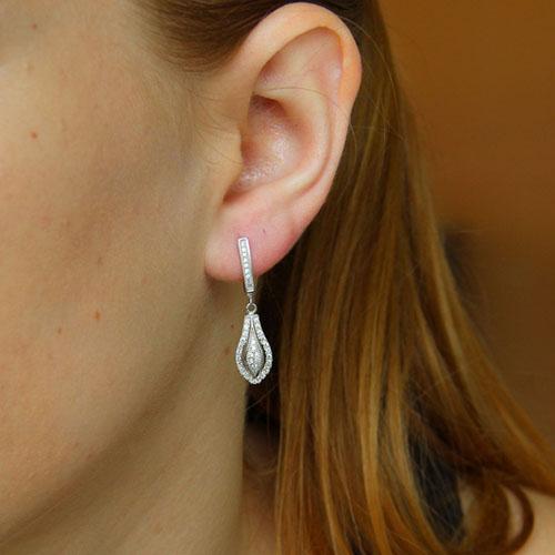 boucle oreille femme argent zirconium 9300268 pic5