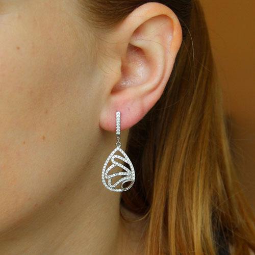 boucle oreille femme argent zirconium 9300269 pic5