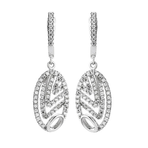 boucle oreille femme argent zirconium 9300270 pic2