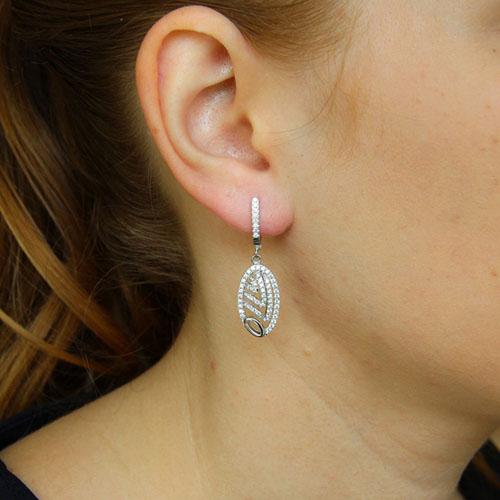 boucle oreille femme argent zirconium 9300270 pic5