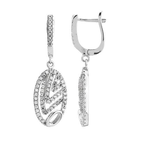 boucle oreille femme argent zirconium 9300270