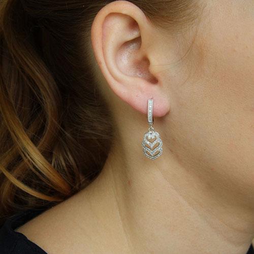 boucle oreille femme argent zirconium 9300271 pic5