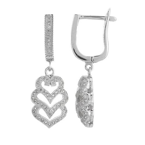 boucle oreille femme argent zirconium 9300271
