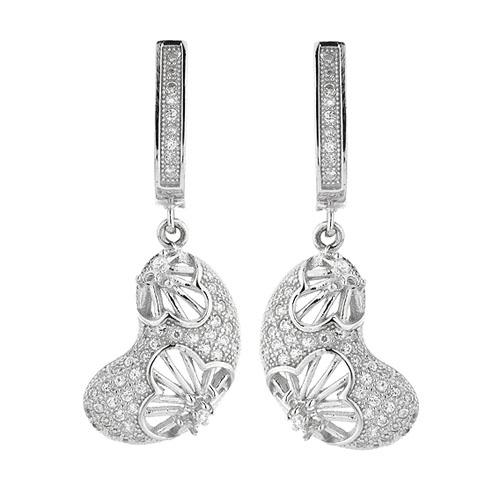 boucle oreille femme argent zirconium 9300272 pic2