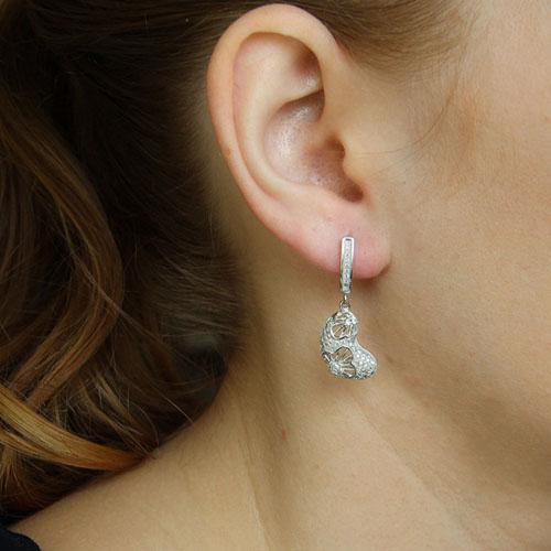 boucle oreille femme argent zirconium 9300272 pic5