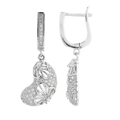 boucle oreille femme argent zirconium 9300272