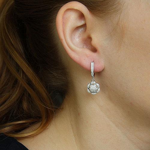 boucle oreille femme argent zirconium 9300273 pic5