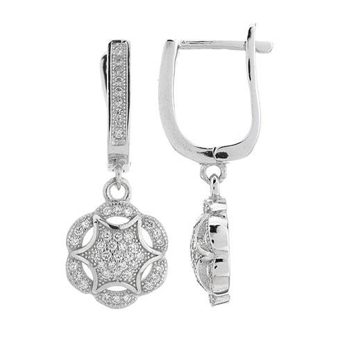 boucle oreille femme argent zirconium 9300273
