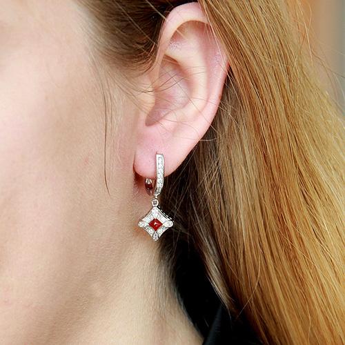 boucle oreille femme argent zirconium agate 9300090 pic5