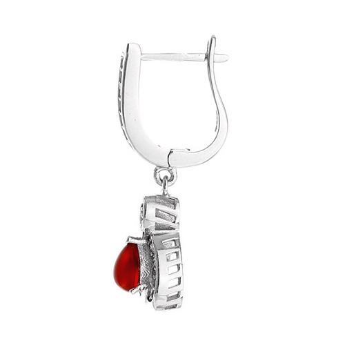 boucle oreille femme argent zirconium agate 9300098 pic3