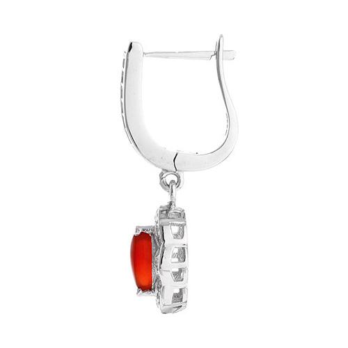 boucle oreille femme argent zirconium agate 9300099 pic3