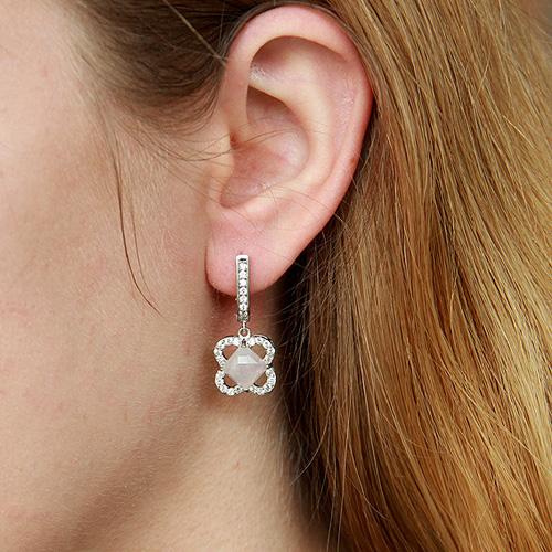 boucle oreille femme argent zirconium cristal 9300141 pic5