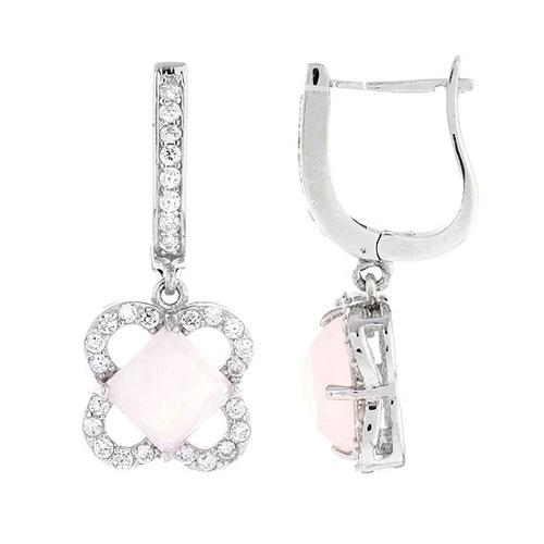 boucle oreille femme argent zirconium cristal 9300141