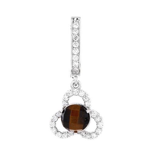 boucle oreille femme argent zirconium diamant 9300140 pic2