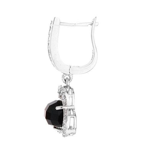 boucle oreille femme argent zirconium diamant 9300140 pic3