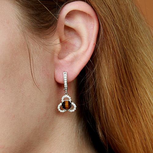 boucle oreille femme argent zirconium diamant 9300140 pic5