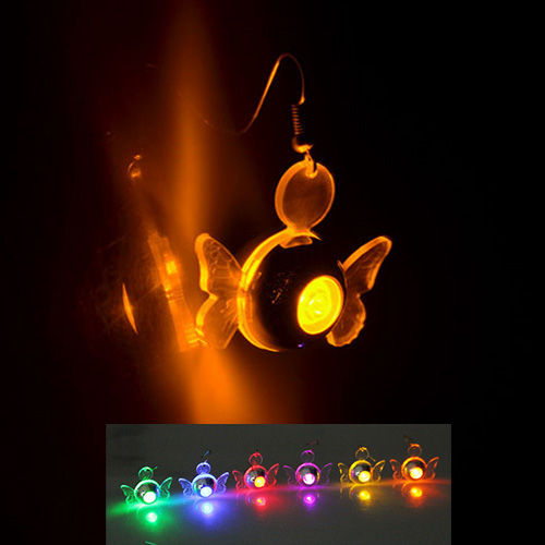 boucles oreille led ange