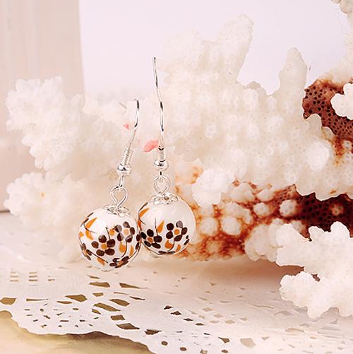 boucles oreilles ceramique plaque argent pic11