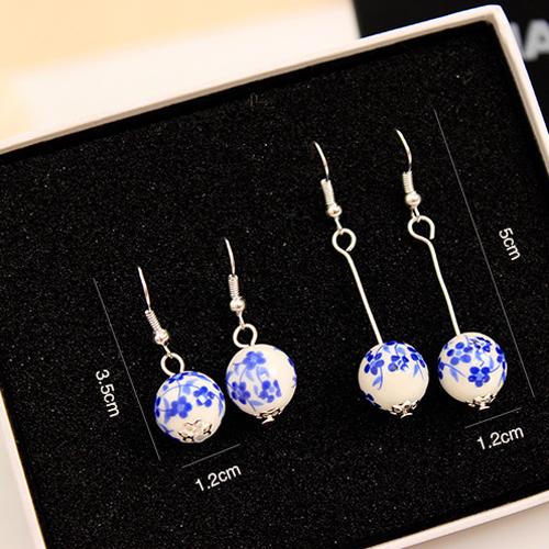 boucles oreilles ceramique plaque argent pic5