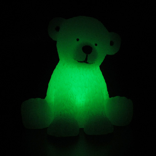bougie led en cire ours blanc pic10