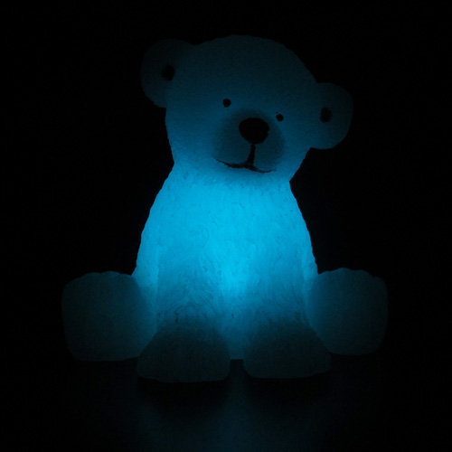 bougie led en cire ours blanc pic11