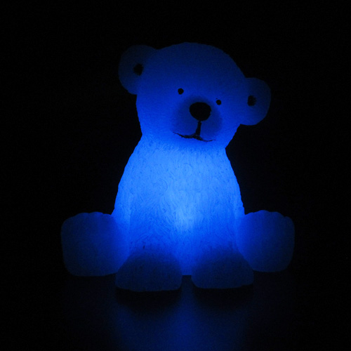 bougie led en cire ours blanc pic9