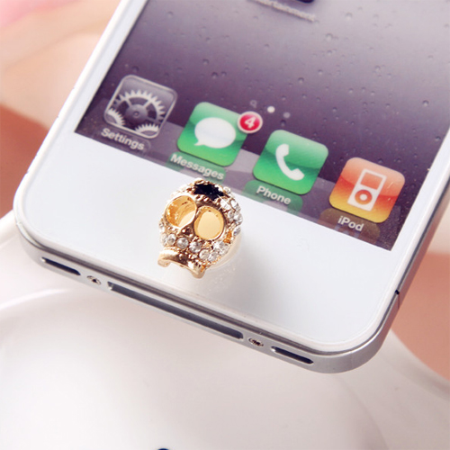 bouton iphone crane diamant