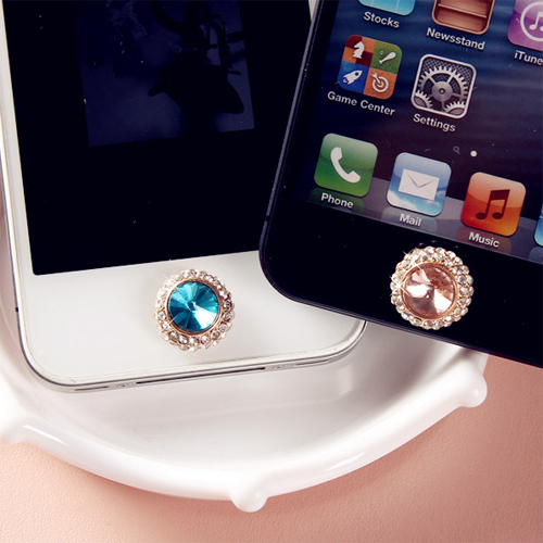 bouton iphone diamant