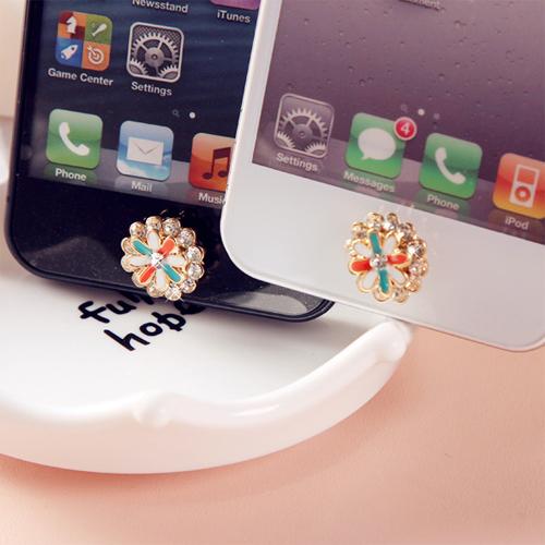 bouton iphone fleur diamant pic3
