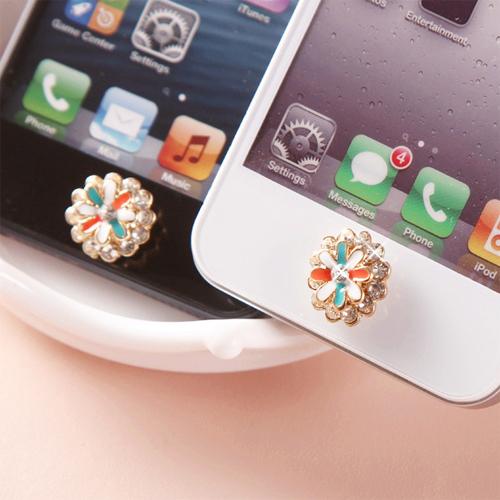 bouton iphone fleur diamant pic4