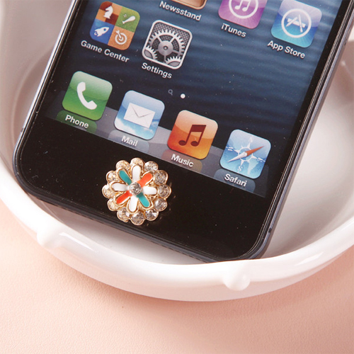 bouton iphone fleur diamant pic5