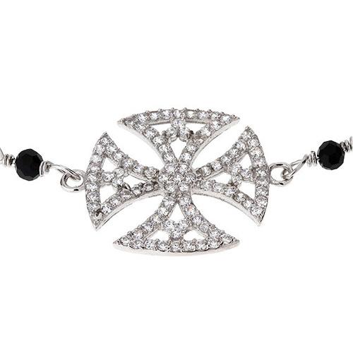 bracelet femme argent zirconium 9500002 pic2