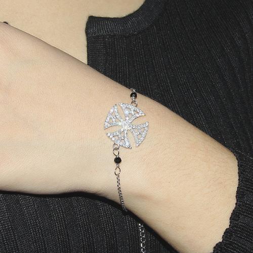 bracelet femme argent zirconium 9500002 pic4