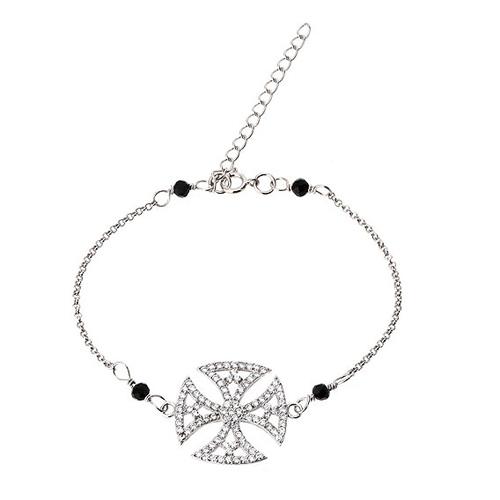 bracelet femme argent zirconium 9500002