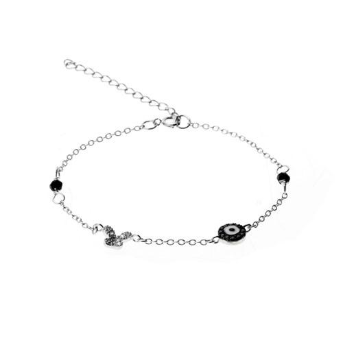 bracelet femme argent zirconium 9500008