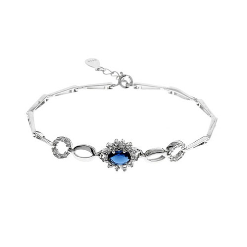 bracelet femme argent zirconium 9500014