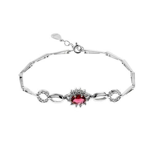 bracelet femme argent zirconium 9500015