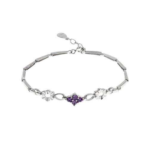 bracelet femme argent zirconium 9500028