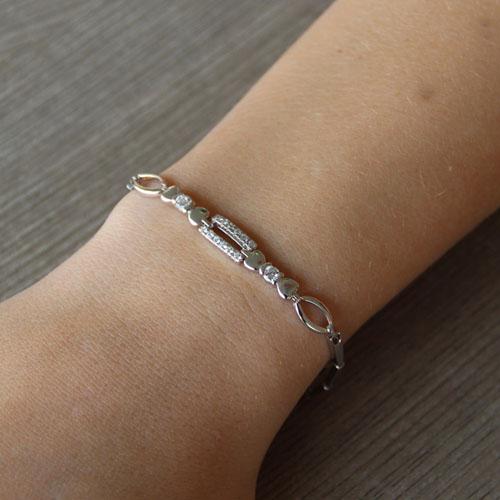 bracelet femme argent zirconium 9500029 pic4