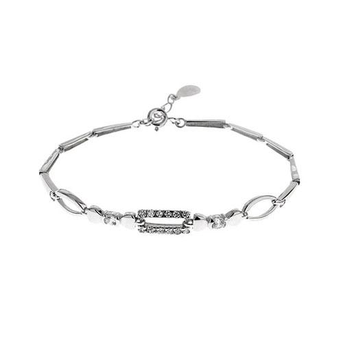 bracelet femme argent zirconium 9500029