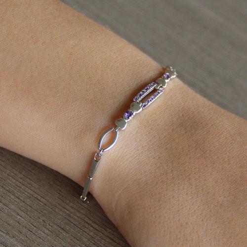bracelet femme argent zirconium 9500030 pic4
