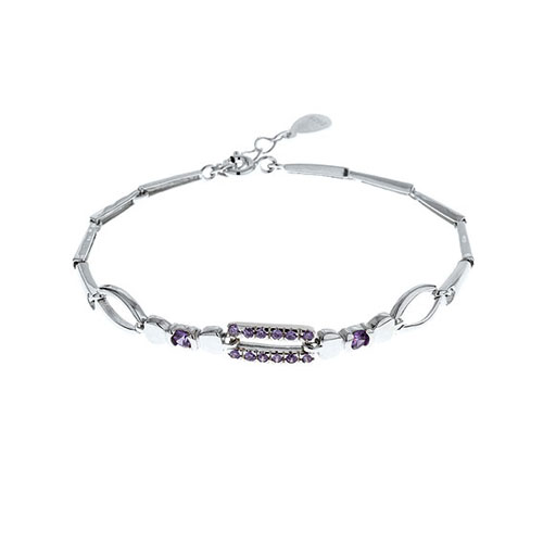 bracelet femme argent zirconium 9500030