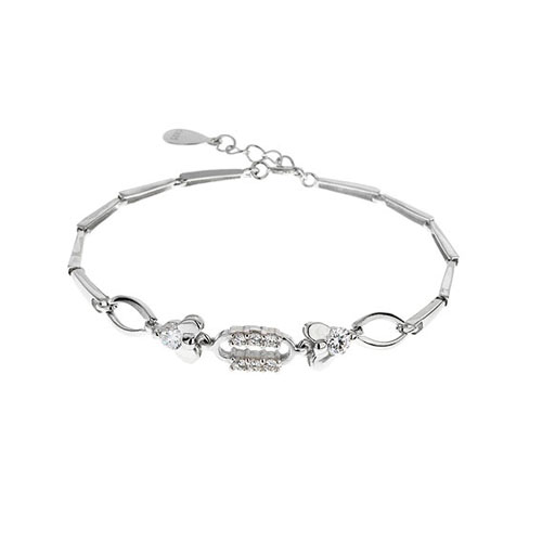 bracelet femme argent zirconium 9500031