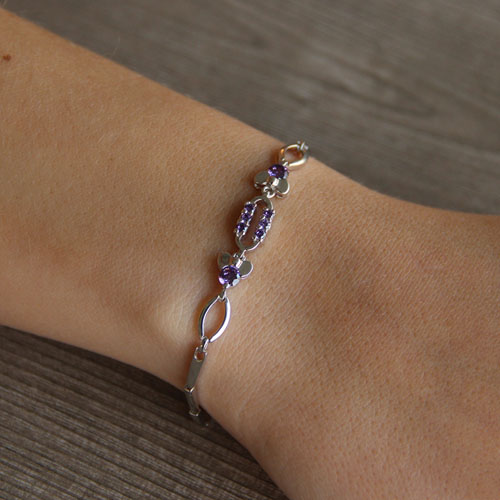bracelet femme argent zirconium 9500032 pic4