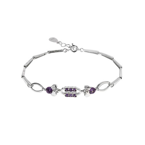 bracelet femme argent zirconium 9500032