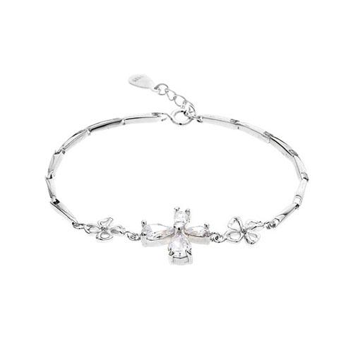 bracelet femme argent zirconium 9500033
