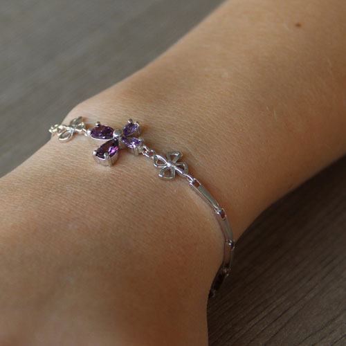 bracelet femme argent zirconium 9500034 pic4
